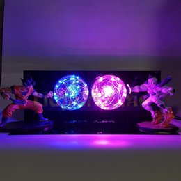 Z Son Goku VS Freeza Luminaria LED Night Lights Anime Super Figurine Toy DBZ Lampada da tavolo a Led