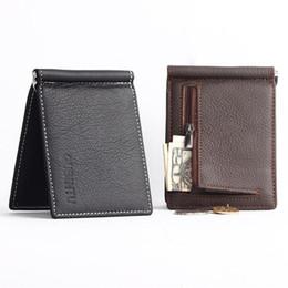 3de4c8e32 Los hombres de la cartera de cuero suave clip de dinero con cremallera  bolsillo de la moneda hombres del monedero titular de dinero barato envío  gratis ...
