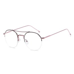 ac776f3fa7 JURUI Women Round Glasses Retro Metal Frame Eyeglasses Korean Clear Lens  Glasses Male Female Optical Plain Mirror J9790  1213