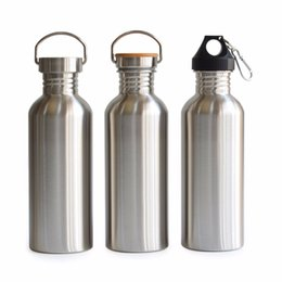 Stainless Bottles Canada - 1000ml Stainless Steel Sports Water Bottle Flask Jar My Bottle Great For Camping Hiking Cycling Travel Yoga Outdoor
