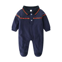 infant baby clothing UK - Retail High Quality Newborn Clothes Baby Works One Pieces Baby Romper Infant Boys Girls Long Sleeve Jumpsuits Clothing Baby Rompers