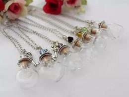 $enCountryForm.capitalKeyWord Australia - Bottle Pendant Necklace DIY Empty Wish Necklace Handmade Glass Bottle Wish Necklace Fashion Women Jewelry Christmas Gift