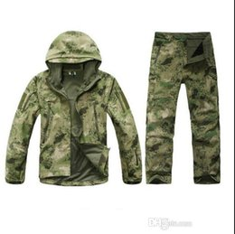 Army jAcket tAd online shopping - TAD Stalker Shark Skin Camouflage Hunting Jackets Fishing Waterproof SoftShell Outdoor Jacket Set Sport Army Clothes S6