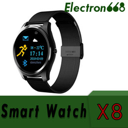 electronics ratings NZ - sports smart watch X8 with heart rate monitor blood pressure remote camera stop watch smart electronic for oppo huawei xiaomi 10pcs