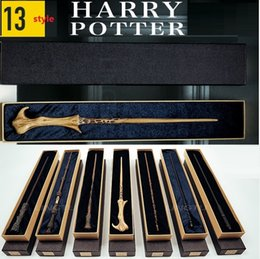 $enCountryForm.capitalKeyWord Australia - Harry Potter Cosplay Toys Metal Core Harry Potter Magic Wand With Gift Box Kids Wand Toys Kids Gifts Christmas Gift For Children DHL FREE