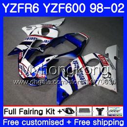 Yamaha Yzf r6 99 online shopping - Body For YAMAHA YZF R6 YZF600 YZFR6 HM YZF YZF R600 stock blue frame YZF R6 Fairings