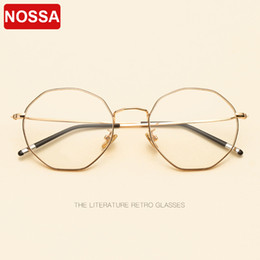 new spectacles frames for men 2019 - 2018 New type of convex wire irregular glasses frame metal polygon flat mirror spectacle frames for men and women. cheap