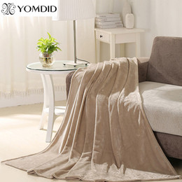 Relaxing Beds Australia - Hot Home textile flannel Blanket pink super warm soft blankets Sofa Bed Plane Travel throw Relax Blanket solid color Bedspread