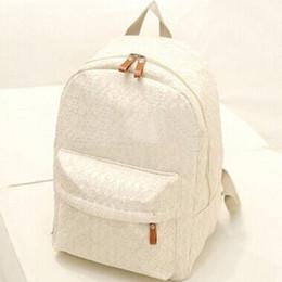 $enCountryForm.capitalKeyWord NZ - Lace Backpack For Student Women Shoulder Bags School Bags Teenager Girls Female Canvas Backpack Zipper Black White Travel Bag
