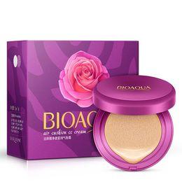 Face Whitening Sun Block Australia - Hot Sale BIOAQUA Air Cushion BB Cream Concealer Moisturizing Foundation Makeup Whitening Brighten Face Beauty Cosmetic Skin Care