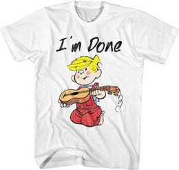 $enCountryForm.capitalKeyWord UK - Dennis The Menace Comic Strip I'm Done Broken Guitar Strings Adult T Shirt Comfortable t shirt Casual Short Sleeve Print 100% Cotton
