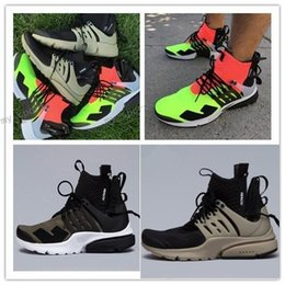 Fashionable Flat shoes laces online shopping - 2018 Famous ACRONYM x Lab Air Presto Mid Running Shoes For Men Fashionable White Black Hot Lava Presto Shoes Sport Trainers Eur