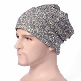 beanies hombres 2018 - JXQBSYDK Winter Hats for Men Keeping Warm Pentagram Design Hedging Caps Fashion Male Hat Winter Gorras Para Hombre disco