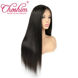 Pre Human Hair NZ - Slove Hair Brazilian Straight Pre Plucked 360 Lace Frontal 150 Density Swiss Lace Remy Human Hair for Black Women