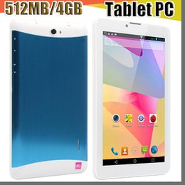 Discount cheap 3g wifi tablets 2018 cheap 7 inch 3G Phablet Android 4.4 MTK6572 Dual Core 4GB Dual SIM GPS Phone Call WIFI Tablet PC With Bluetooth EBO