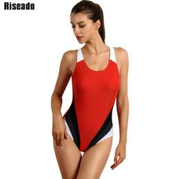 0fd6881560e06 Riseado Competitive Swimwear Women 2017 One Piece Swimsuit Training Sports  Suit Backless Swim Wear monokini Bathing Suits