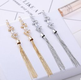 fringe charm Canada - 2018 New arrival women fashion jewelry high quality long fringe crystals diamond zircon ball earrings Christmas festival gift lover