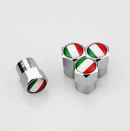 İtalya Almanya Typer Mini Metal Lastik Vana Vanalar Lastik Toz Kapağı Caps MT Araba Rozeti Amblem Rozetleri genel lastik vana Otomobil vana kapağı