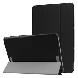 $enCountryForm.capitalKeyWord Australia - 3 Folding PU Leather Stand Flip Smart Cover Case for Asus Transformer Book T101HA 10.1 inch Tablet Protective Skin Shell+Stylus