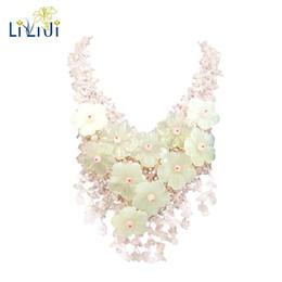 Rose Quartz Fashion Jewelry UK - Lii Ji Natural Gemstone Rose Quartz New Jade Flowers Jade Clasp Handmade Knitting Statement Necklace For Women Fashion Jewelry
