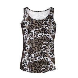 China 2017 Leopard Men Sports Tank Tops Sport Vest Sleeveless T-shirt Tee Shirt Patchwork Drop Shipping #Z30 cheap leopard shipping suppliers