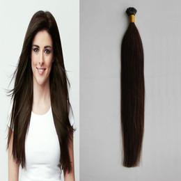 "Pre Bond Human Hair Extensions Australia - 1g pcs 16"" 20"" 24"" Pre Bonded Hair Extensions I Tip 100g Machine Made Remy Straight Human Hair On Capsule Real Hair 100pcs"