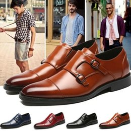 Italian Dress Shoes For Men NZ - italian brand monk strap formal designer shoes men oxford shoes for men dress shoes chaussure homme zapatos de hombre sepatu pria ayakkab