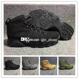 010c0f17e236 2018 new high quality 9 mens basketball shoes 23 black grey wheat olive  green 9s free shipping US8-12