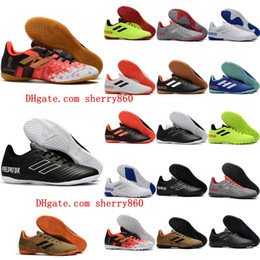 02048e05c 2018 mens turf soccer cleats indoor soccer shoes low top Predator Tango 18 zapatos  hombre 18.4 IN TF football boots new arrival