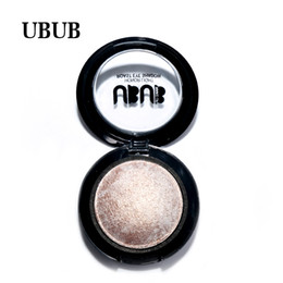 baked eyeshadow makeup UK - Top quality as gift 1 PC UBUB Makeup Single Baked Eye Shadow 12 Color Eyeshadow Palette in Shimmer Metallic Cosmetics Glitter