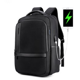 male laptop bags UK - Waterproof Men Laptop Backpack USB Charge School Backpack Large Capacity Mochila Casual Male Travel Bag