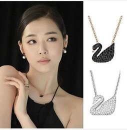 Korean Rose Gold Accessories Australia - Black swan necklace collarbone chain female rose gold Japanese and Korean fashion pendant accessories A1