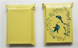 """Chinese  Yellow Color """"Thank You"""" Envelope Mailing Bag Express Bag Bird Poly Bags Clothing Packing Bag wen6815 manufacturers"""