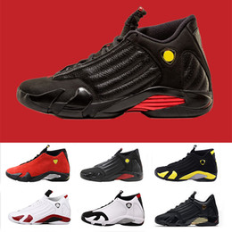 Candies sneakers online shopping - High Quality s Black Toe Fusion Varsity Red Suede Thunder Men Basketball Shoes Last Shot DMP Candy Cane Sneakers With Shoes Box