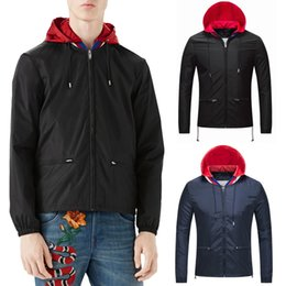 $enCountryForm.capitalKeyWord Canada - 2018 Fashion Hooded Nylon Windbreaker Jacket Knitted Collar Zipper Pockets Elastic Cuff Adjustable Hem Lightweight Outerwear