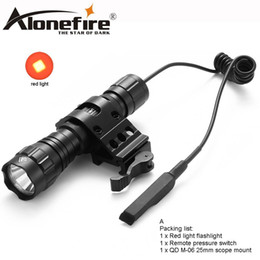 $enCountryForm.capitalKeyWord NZ - AloneFire 501Bs LED tactical flashlight Red flashing portable camping hunting flash for 1x 18650 rechargeable batteries
