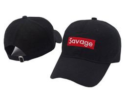 484a134ced7 Wholesale-Savage Baseball Cap Embroidery Men Dad Hat Cotton Bone Women  Snapback Caps Hip Hop Sun Fashion Style Kpop Camouflage Caps