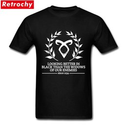 boy custom shirts 2019 - 2017 New Men Elegant Shadowhunters Motto Tees Shirts Short Sleeved Custom Made Tee Shirt Young Boy Extra Large cheap boy