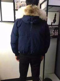 Green Down Parkas NZ - Winter Down Parkas Hoody Canada Bomber Wolf Fur Jackets Zippers Designer Jacket Men Chilliwackbomber Warm Coat Outdoor Parka Green Online