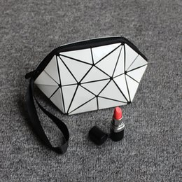 Discount new brand cosmetics - Geometric semicircle cosmetic bag pu leather 2017 Hot-selling Women Brand New pouch