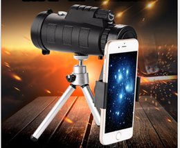 mobile phone microscope lens NZ - High definition new 40X60 dual tone outdoor view mobile phone single lens telescope