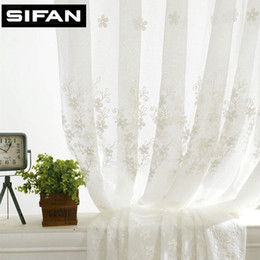 $enCountryForm.capitalKeyWord NZ - European White Fancy Embroidered Voile Curtains for Living Room Tulle Window Curtains for the Bedroom Sheer