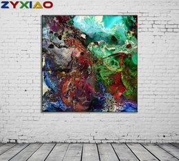 life size pictures Australia - ZYXIAO Big Size Posters and Prints abstract paint modern Oil Painting Canvas No Frame Wall Pictures for Living Room Home Decoration ys0078