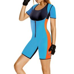 9be381e3d3 Sexy Ladies Blue Zip Neoprene Waist Trainer Control Women Waist Bodycon Corset  Cincher Leggings Body Shaper Bodysuit Butt Lifter