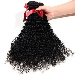 6a Kinky Curly Hair Weave NZ - Elaborate Brazilian Black Color Kinky Curly Hair Extensions 10-30 Inchs Human Hair Weave 6a Unprocessed Virgin Hair Extensions