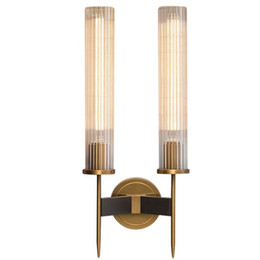 Wholesale Modern Wall Sconce Bedroom Bedside Lamp Corridor Aisle Balcony Glass Wall Lamp bathroom Mirror Bronze Glass Wall Light led Lamp LLFA