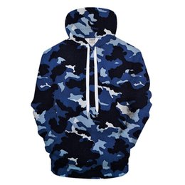 8a7a8014fb87f Black camo hoodie online shopping - Navy Blue Camo DPrint Hoodies Men Women  Sweatshirt Casual Tracksuit
