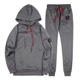 Ankle decorAtion online shopping - Spring New Design Mens Tracksuit Men Solid Pullover With Casual Jogger Suits All With Ribbon Decoration Sportsuit