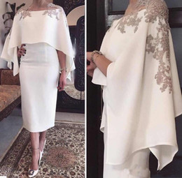 tea length mother bride dress wrap 2021 - 2018 Mermaid Mother Of The Bride Dresses Jewel Neck Gray Lace Appliques Beaded With Wrap Tea Length Party Evening Wear W