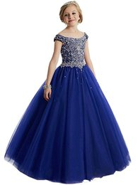 $enCountryForm.capitalKeyWord UK - Glitz Kids Pageant Ball Gown Dress Girls Pageant Interview Suits Long Pageant Dresses for Girls 8 10 12 Coral Flower Girl Dress
